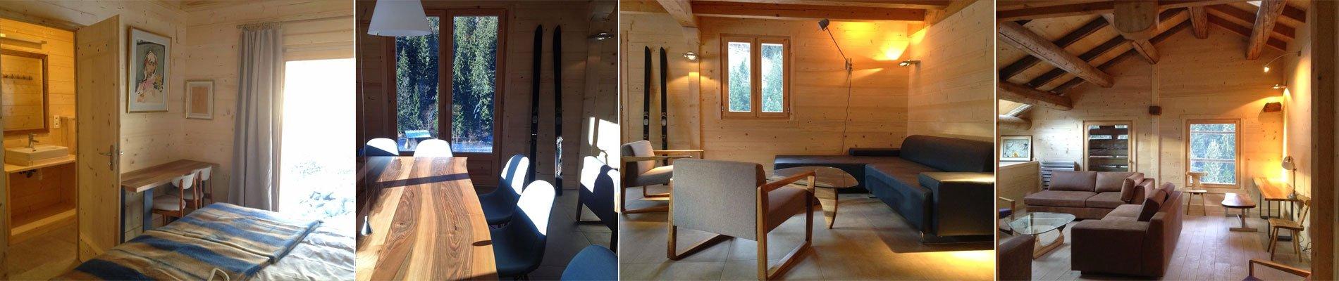 Het comfortabele chalet ligt aan de rand van het dorpje arèches. het bestaat uit twee aparte accommodaties ...