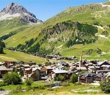 val d  isere alpen bergen fietsen wandelen bergvakantie