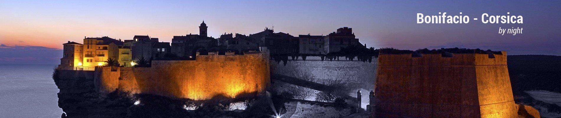 bonifacio by night banner corsica