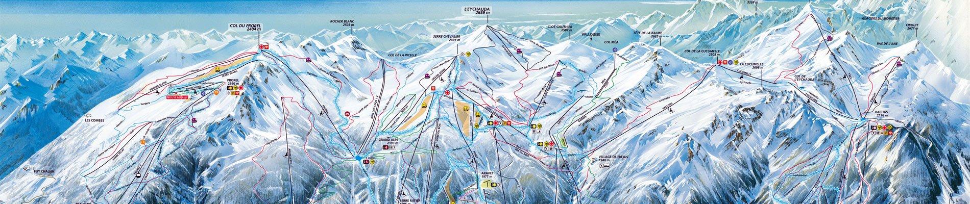 kaart serre chevalier skigebied 1900x400