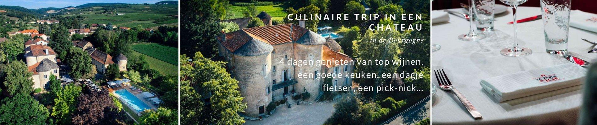 Culinair fietsarrangement Chateau Igé