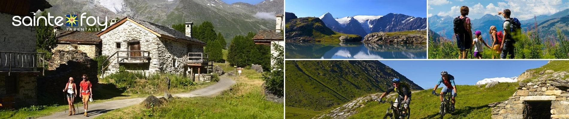 zomer vakantie alpen sainte foy