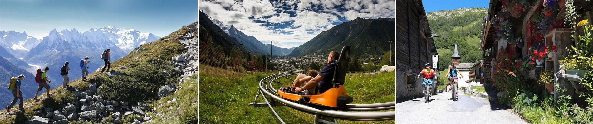 chamonix location chalets zomervakantie bergen alpen